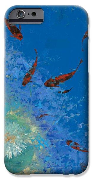 13 pesciolini rossi iPhone Case by Guido Borelli