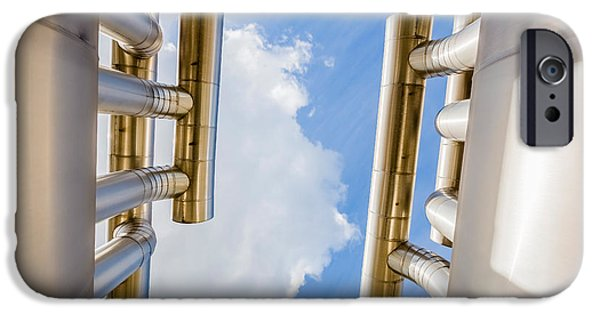 Alternative Energy iPhone Cases - Pipes At Nesjavellir Geothermal Power iPhone Case by Panoramic Images
