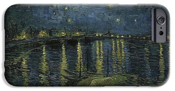 Starry Night iPhone Cases - Starry Night iPhone Case by Vincent Van Gogh