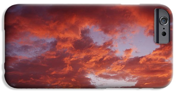Morning iPhone Cases - Summer sky iPhone Case by Les Cunliffe