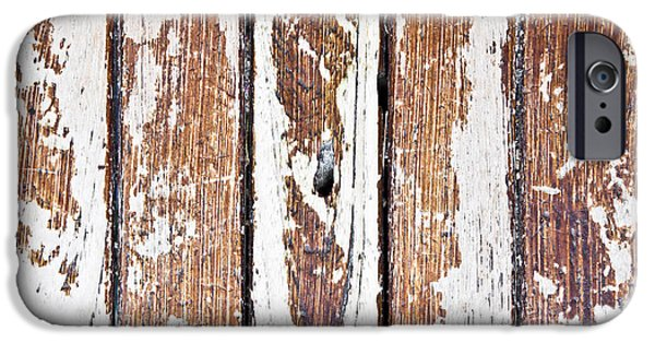Torn iPhone Cases - Weathered wood iPhone Case by Tom Gowanlock
