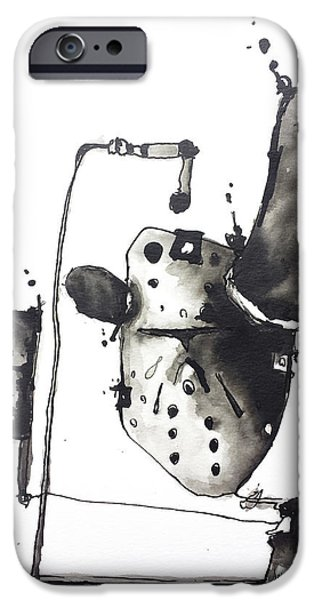 Abnormal Drawings iPhone Cases - 13th iPhone Case by Nick Watts
