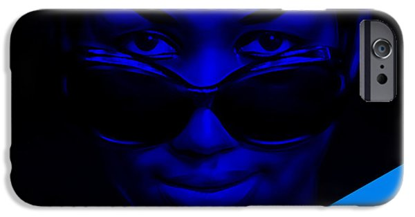 Blue iPhone Cases - Aretha Franklin Collection iPhone Case by Marvin Blaine