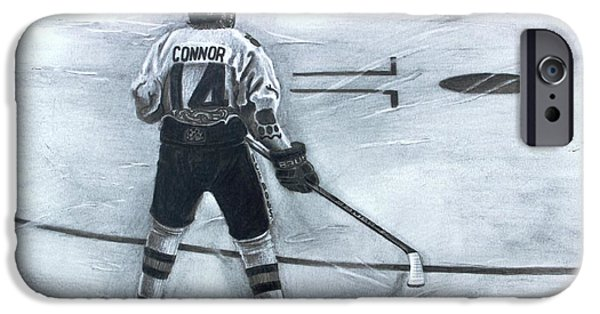 Nike Drawings iPhone Cases - #14 Connor  iPhone Case by Gary Reising