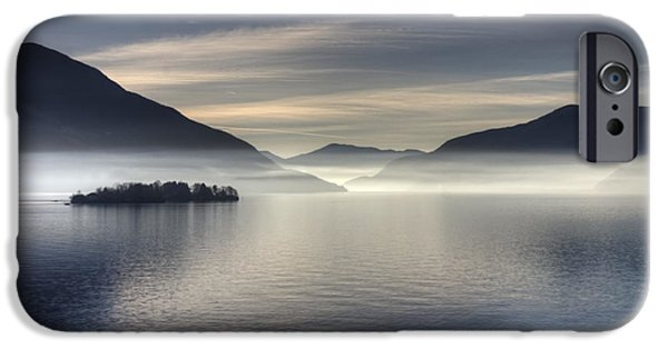 Alps iPhone Cases - Lake Maggiore iPhone Case by Joana Kruse