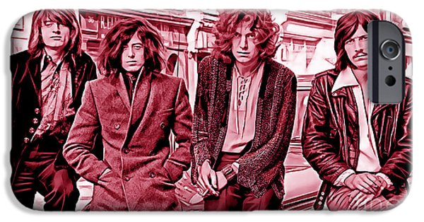 Robert Plant iPhone Cases - Led Zeppelin Collection iPhone Case by Marvin Blaine