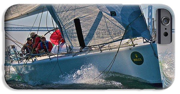 Sailboat iPhone Cases - Bay Regatta iPhone Case by Steven Lapkin