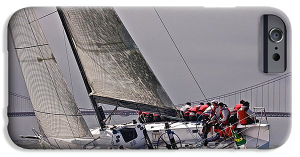 Boat iPhone Cases - Bay Regatta iPhone Case by Steven Lapkin