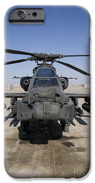 Iraq iPhone Cases - An Ah-64d Apache Longbow Block Iii iPhone Case by Terry Moore