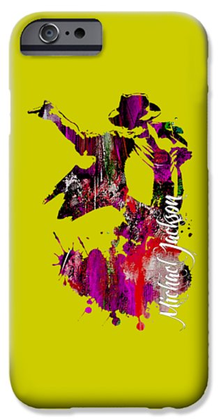 Best Sellers -  - Michael iPhone Cases - Michael Jackson Collection iPhone Case by Marvin Blaine