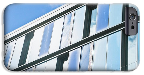 Workplace iPhone Cases - Modern architecture iPhone Case by Tom Gowanlock