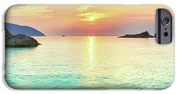Panoramic Ocean iPhone Cases - Sunrise iPhone Case by MotHaiBaPhoto Prints