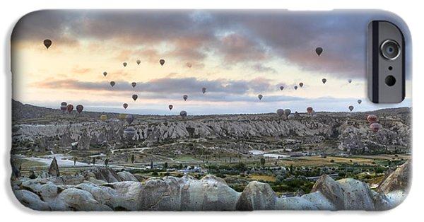 Hot Air Balloon iPhone Cases - Cappadocia - Turkey iPhone Case by Joana Kruse