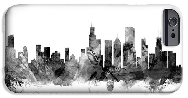 Recently Sold -  - United iPhone Cases - Chicago Illinois Skyline iPhone Case by Michael Tompsett
