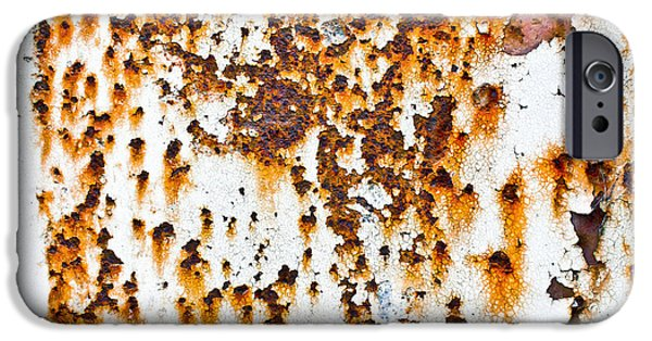 Stainless Steel iPhone Cases - Rusty metal iPhone Case by Tom Gowanlock