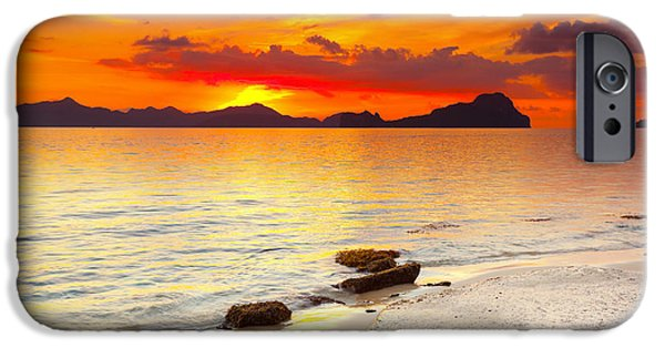 Beach iPhone Cases - Sunset iPhone Case by MotHaiBaPhoto Prints