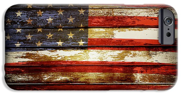 Flag Digital iPhone Cases - American flag iPhone Case by Les Cunliffe