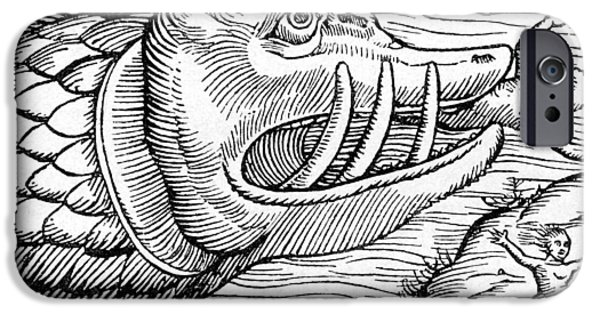 Block Print iPhone Cases - 16th Century Woodcut Print iPhone Case by Cci Archives