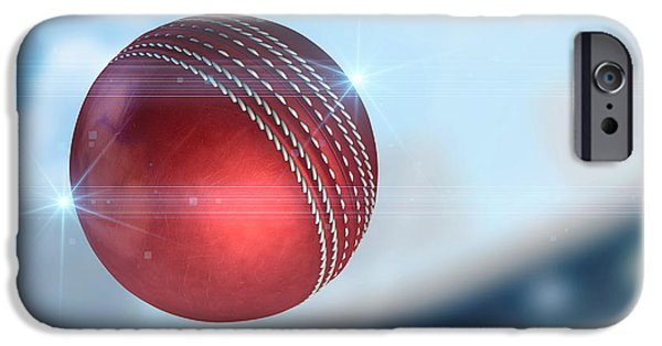 Cricket iPhone Cases - Ball Flying Through The Air iPhone Case by Allan Swart
