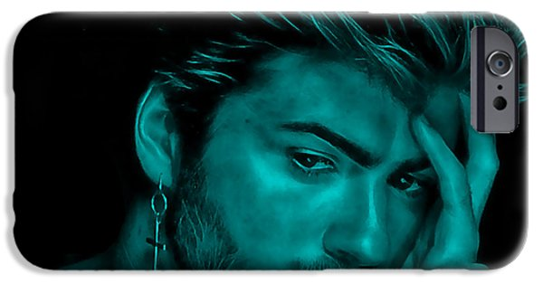 Michael iPhone Cases - George Michael Collection iPhone Case by Marvin Blaine