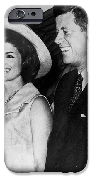 Best Sellers -  - First Lady iPhone Cases - John F Kennedy (1917-1963) iPhone Case by Granger