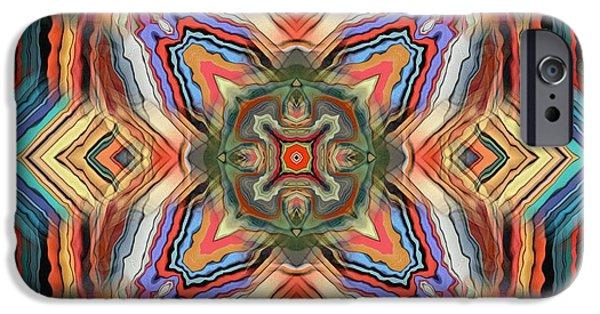 Mosaic iPhone Cases - Kaleidoscope iPhone Case by Alexandra Blechova