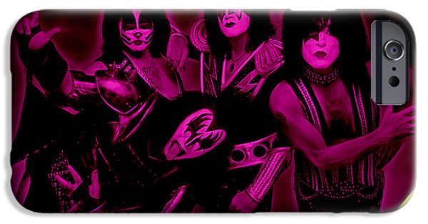 Kiss iPhone Cases - Kiss Collection iPhone Case by Marvin Blaine
