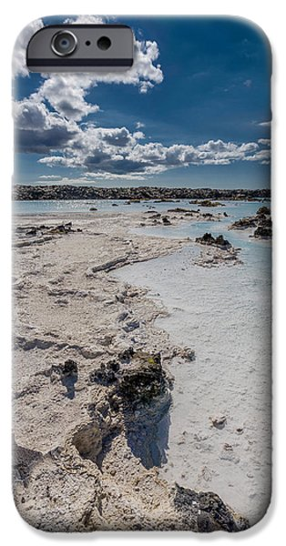 Alternative Energy iPhone Cases - Silica Deposits In Water By The iPhone Case by Panoramic Images