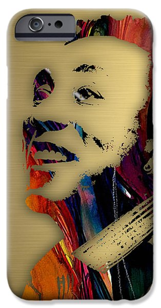 Pop Mixed Media iPhone Cases - Smokey Robinson Collection iPhone Case by Marvin Blaine