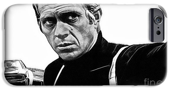 Steve Mcqueen iPhone Cases - Steve McQueen Collection iPhone Case by Marvin Blaine