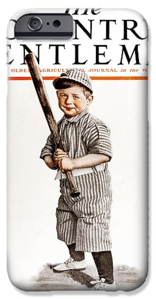 Baseball Uniform iPhone Cases - Cover Of Country Gentleman Agricultural iPhone Case by Remsberg Inc