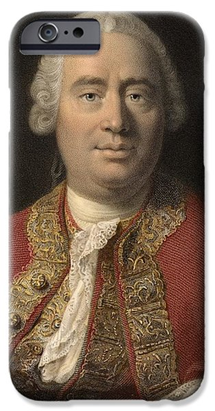 1766 David Hume Philosopher Of Science iPhone Case by Paul D Stewart