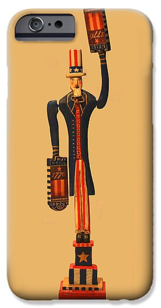 4th July Mixed Media iPhone Cases - 1776 NEILL Uncle Sam iPhone Case by James Neill