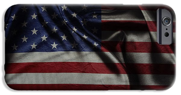 American Flag iPhone Cases - American flag  iPhone Case by Les Cunliffe