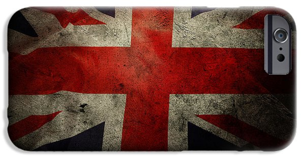 Flag iPhone Cases - British flag iPhone Case by Les Cunliffe