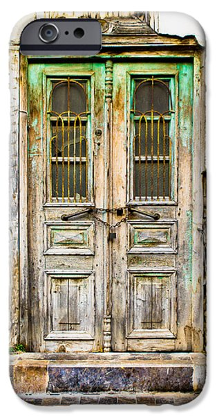Boarded Up iPhone Cases - Old door iPhone Case by Tom Gowanlock