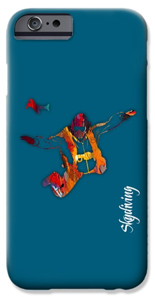 Planes iPhone Cases - Skydiving Collection iPhone Case by Marvin Blaine