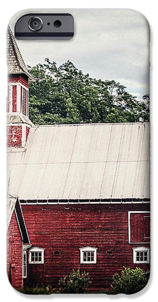 1886 Red Barn iPhone Case by Lisa Russo