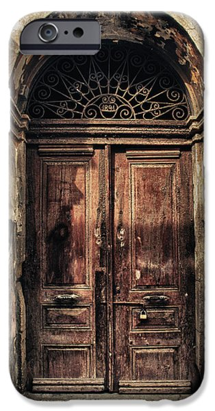 Ancient iPhone Cases - 1891 Door Cyprus iPhone Case by Stylianos Kleanthous