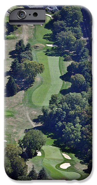 Golf Course Books iPhone Cases - 18th Hole Gulph Mills Golf Club Aerial 200 Swedeland Road Conshohocken PA 19428 iPhone Case by Duncan Pearson