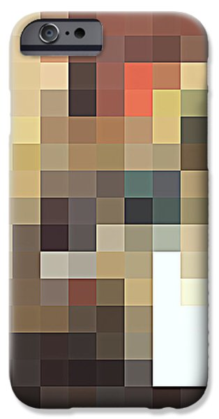 Tile Composition iPhone Cases - Abstract TilesTexture  iPhone Case by Antonio  Cristo
