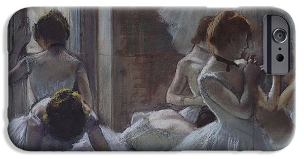 19th Century Pastels iPhone Cases - Dancers iPhone Case by Edgar Degas