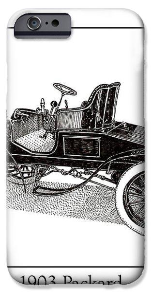 1903 Packard iPhone Case by Jack Pumphrey