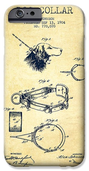 Dog iPhone Cases - 1904 Dog Collar Patent - Vintage iPhone Case by Aged Pixel