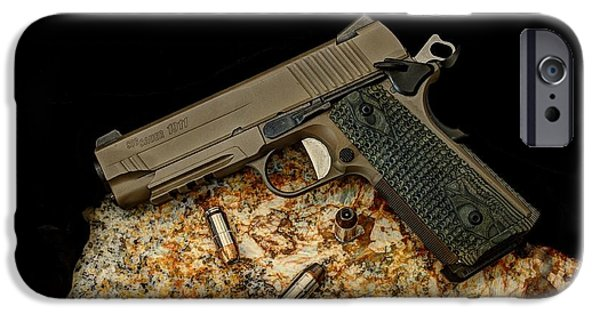 Recently Sold -  - Police iPhone Cases - Sig Sauer 1911 iPhone Case by Twain and Denise Wilkins