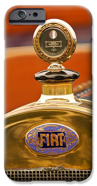 1913 Fiat Type 56 7 Passenger Touring Hood Ornament iPhone Case by Jill Reger