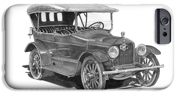 Old Cars iPhone Cases - 1917 King Motorcar model E E iPhone Case by Jack Pumphrey