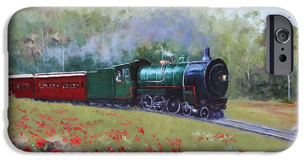 Wwi iPhone Cases - 1918 Bringing the Boys Home - the Train iPhone Case by Marie Green
