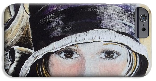 Lips iPhone Cases - 1920s Bucket Hat iPhone Case by Barbara Chase
