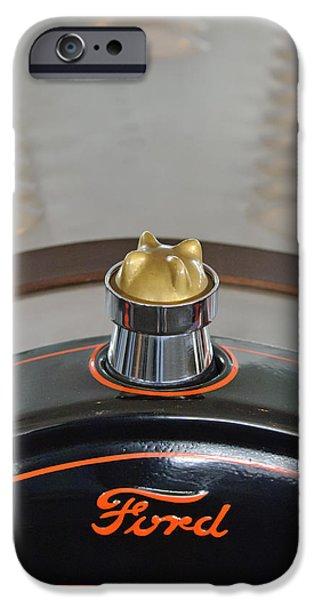 1924 Ford Model T Roadster Hood Ornament iPhone Case by Jill Reger